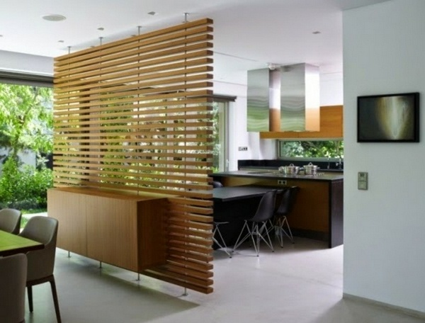 room dividers made of wood glass walls in the living room