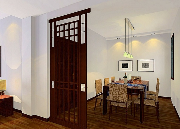 room dividers made of wood small attractive dining room