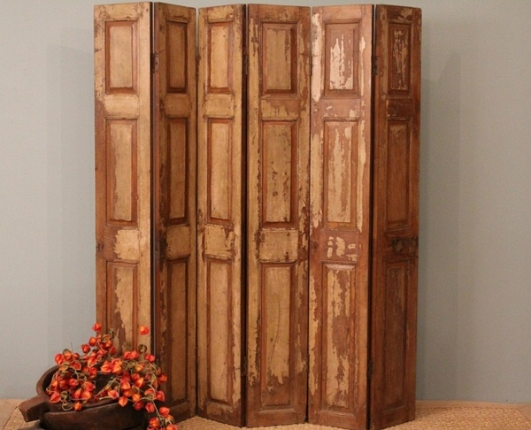 room dividers made of wood wooden model