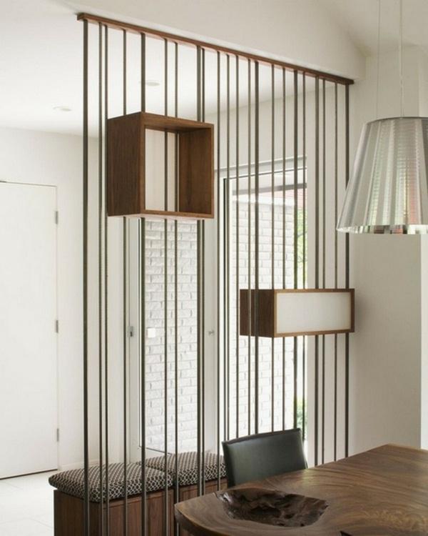 room dividers wooden modern beleuchtugn