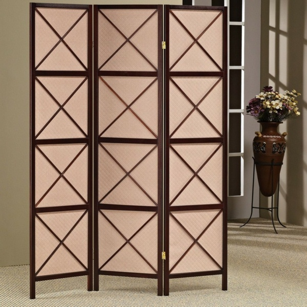 room dividers wooden peach color