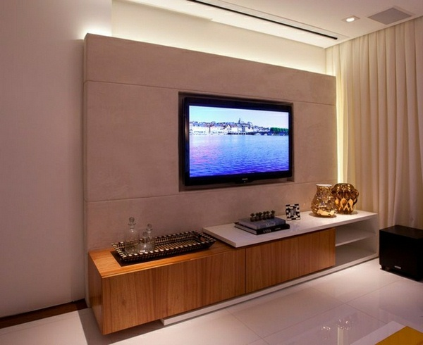 Tv wall panel 35 ultra modern proposals decor10 blog for Tv set design living room