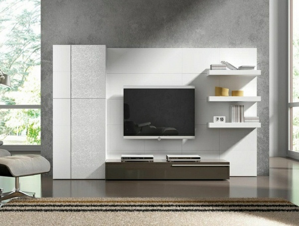 set design modern living room living room wall panels TV Wall fernsehwand1