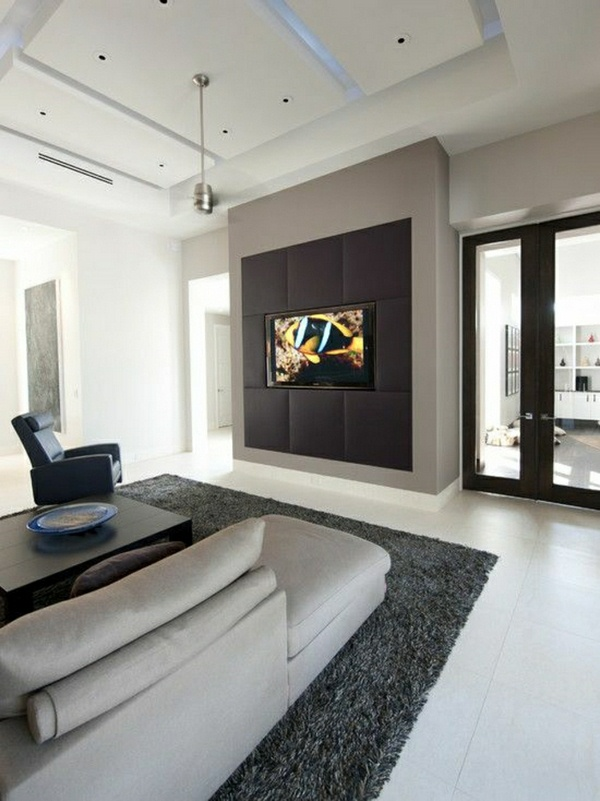 tv wall panel set design modern - Modern Wall Paneling Designs