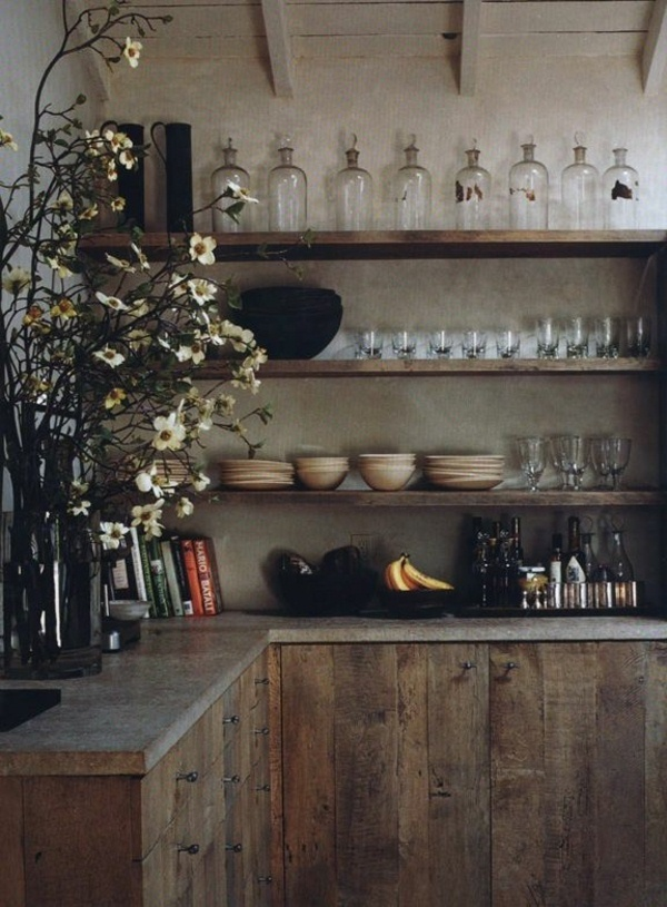 wooden country house kitchens idea