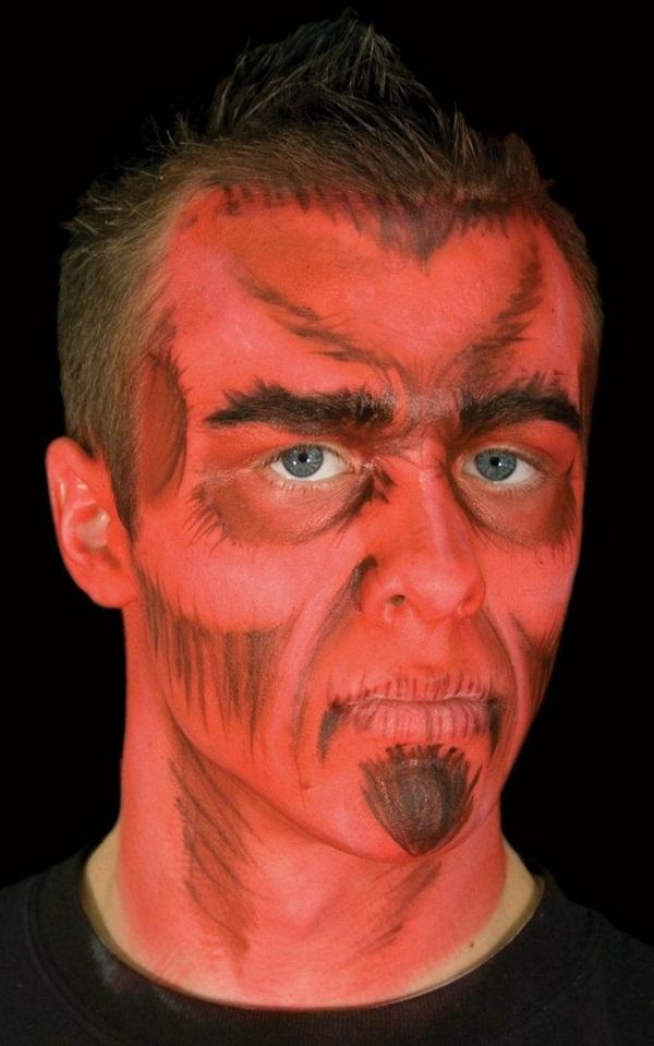 Easy Halloween Makeup For Men.Halloween Makeup Ideas For A Horror Exciting Men Face