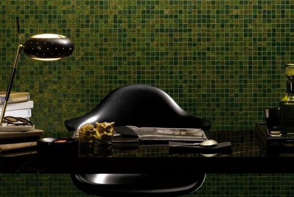 Make mosaic tiles Green Office glittery ideas