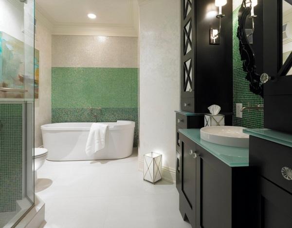 Mosaic tiles Green Mediterranean touch Ideas