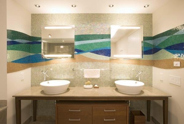 Mosaic tiles green idea sexy flower pattern