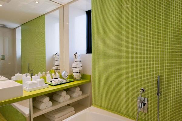 Mosaic tiles green ideas bathroom bath