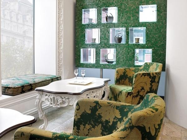 Mosaic tiles green living natural Interior ideas