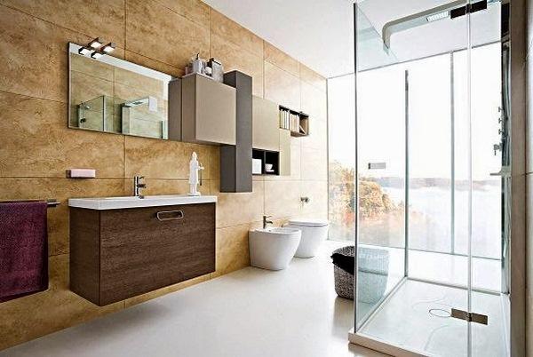 minimalist modern bathroom furnishings