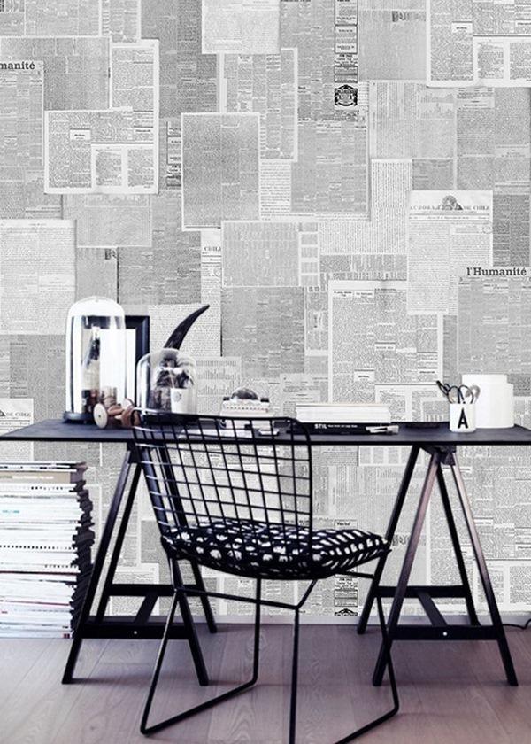 anewal wallpaper newsprint