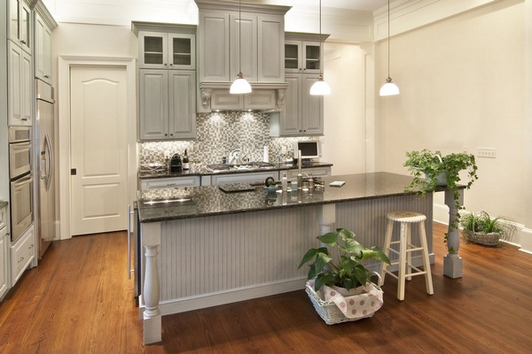 country kitchen gray