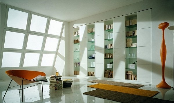 Beautiful-study-room-with-contemporary-bookshelves