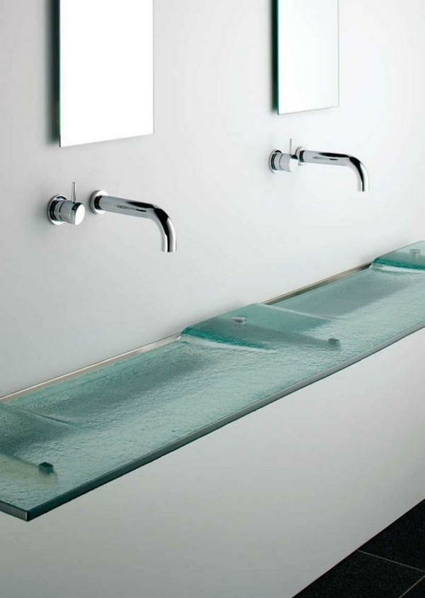 Glass sink design