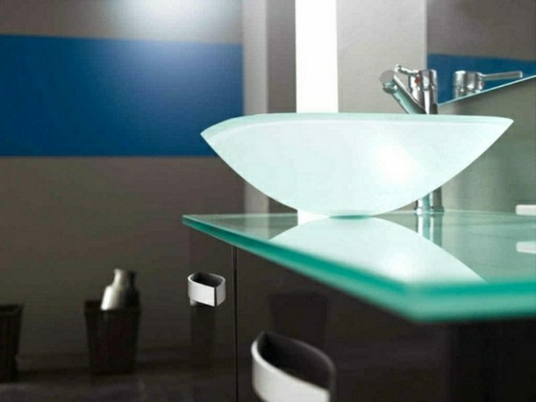 Glass sink modern design