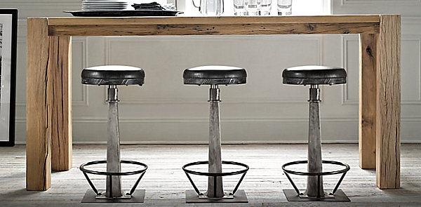 Industrial soda fountain stools
