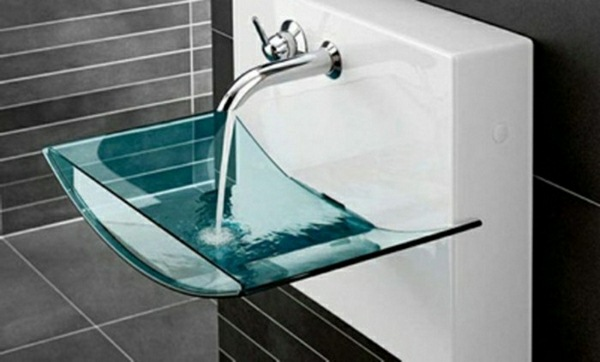 Modern glass basin sinks