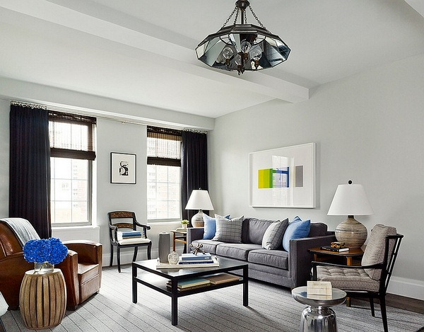 Refreshing and hairy living room with on uncluttered masculine vibe