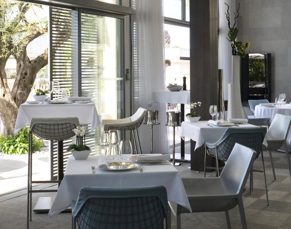 Restaurant furnishings by Emeco