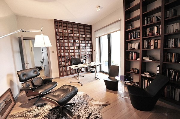 Study-room-with-Eames-lounge-chair-and-small-desk