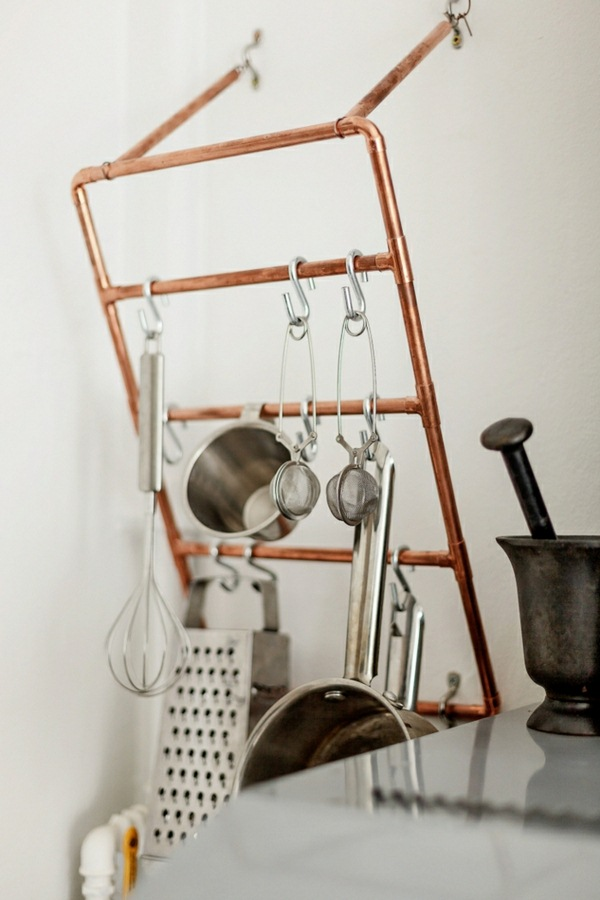 University ideas dwell kitchen shelving build do-it-yourself copper tube