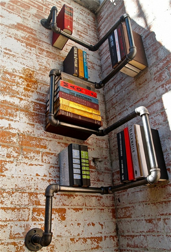 University ideas dwell tube bookshelves diy industrial style living room set living idea