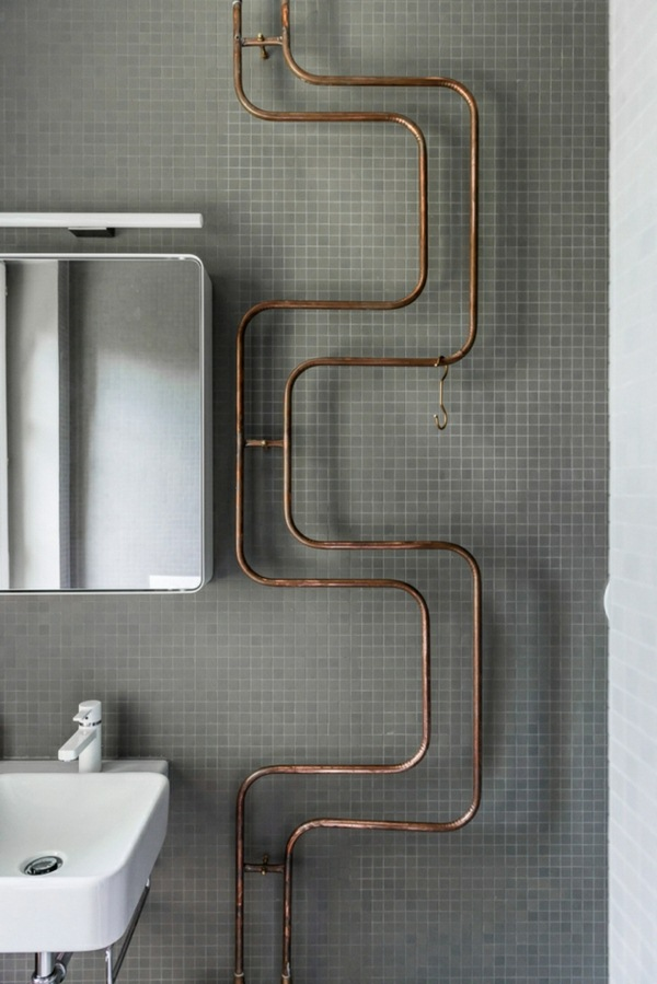 University ideas dwell tube copper brass bathroom wall decoration