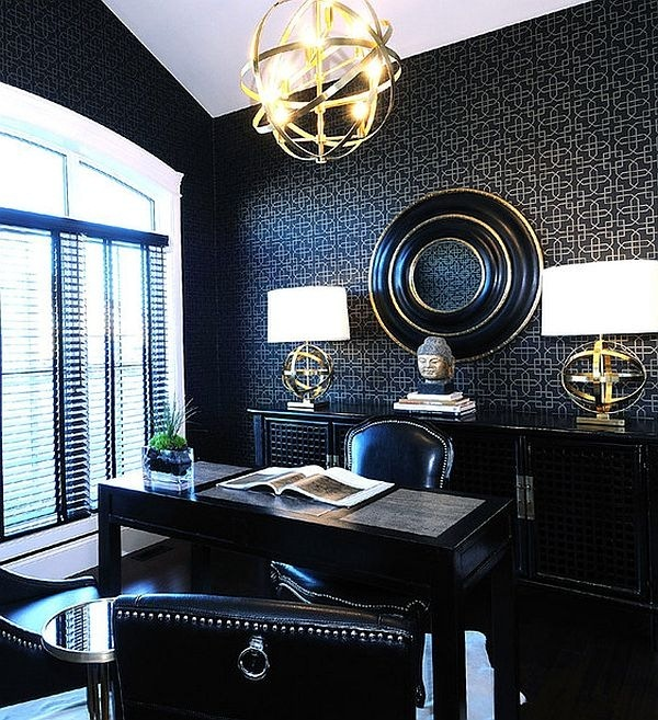 black-themed-study-home-office