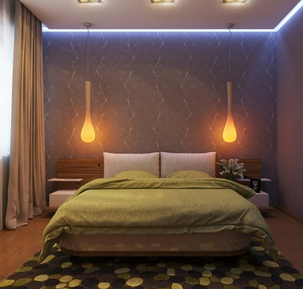 10 Lighting Ideas That Will Transform A Bedroom Design: 42 Bedroom Design Examples Of A Suitable Lighting