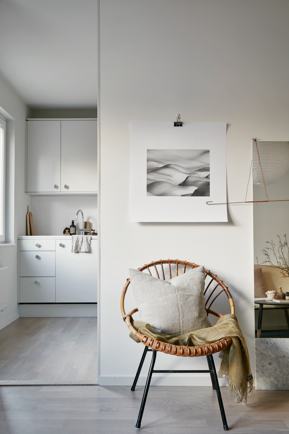light Scandinavian interior