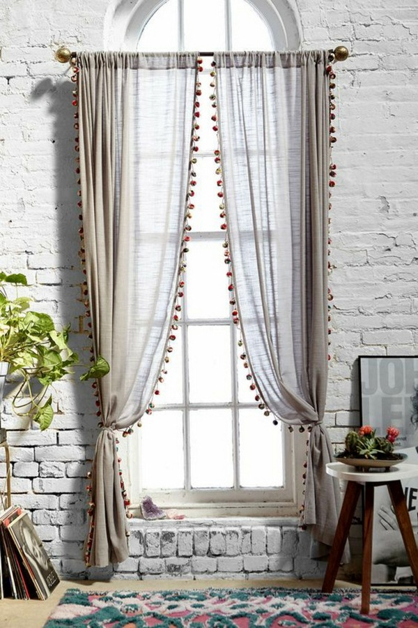 net curtains curtain fabrics curtains pom poms natural fiber fabrics for furnishings in natural colors