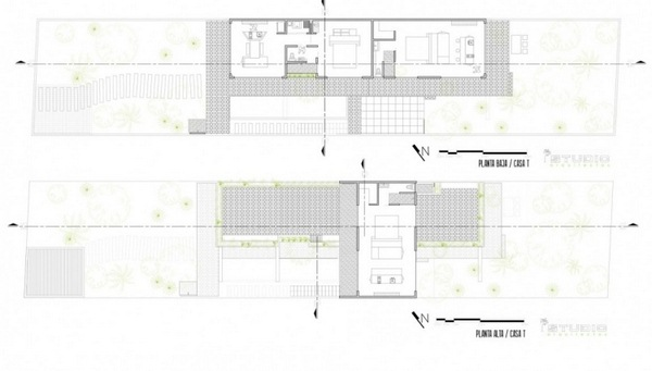 plan floorplan house mexico room layout flooring modern architecture