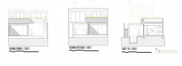 plan floorplan sideview modern architecture