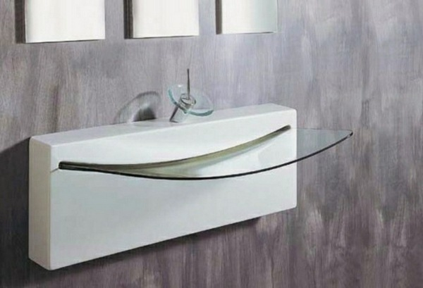 washbasins glass modern design