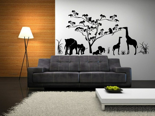 Decorating ideas living room wall ideas wall stickers