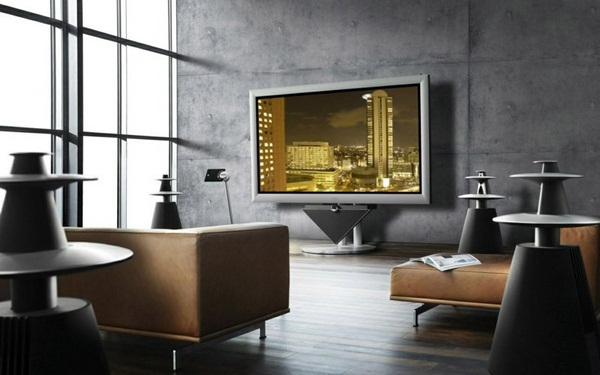 Decorating ideas living up examples living room wall ideas concrete