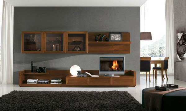 Decorating ideas living up examples living room wall ideas wooden shelves