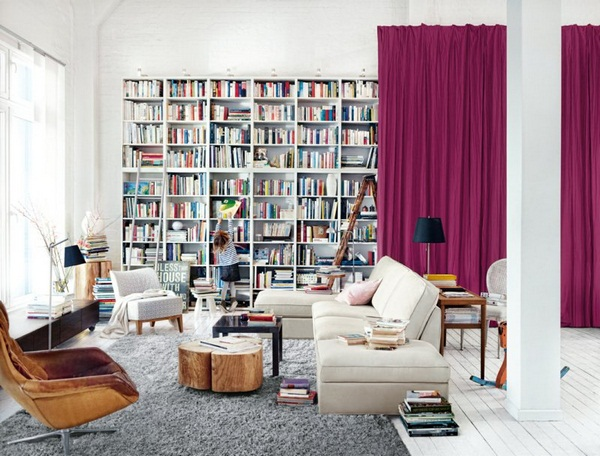 Living room wall ideas modern living room home library
