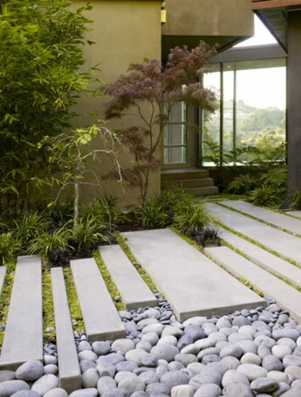 Creating garden ideas garden make pebble