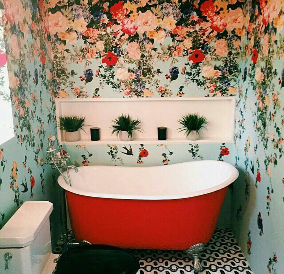 Nature bathroom wallpaper4