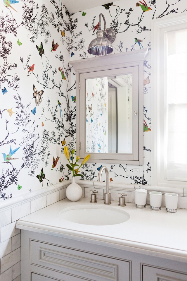 Nature bathroom wallpaper8