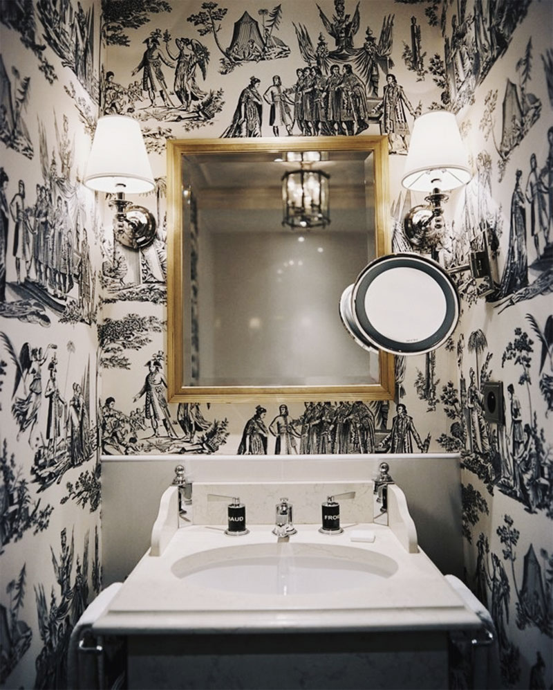 Object bathroom wallpaper2