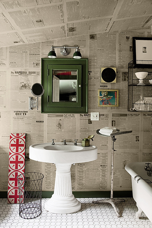 Object bathroom wallpaper7