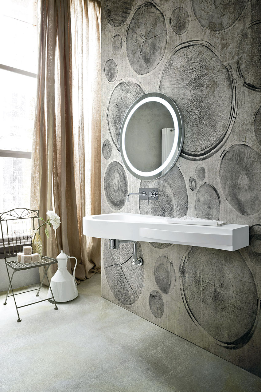 Object bathroom wallpaper8