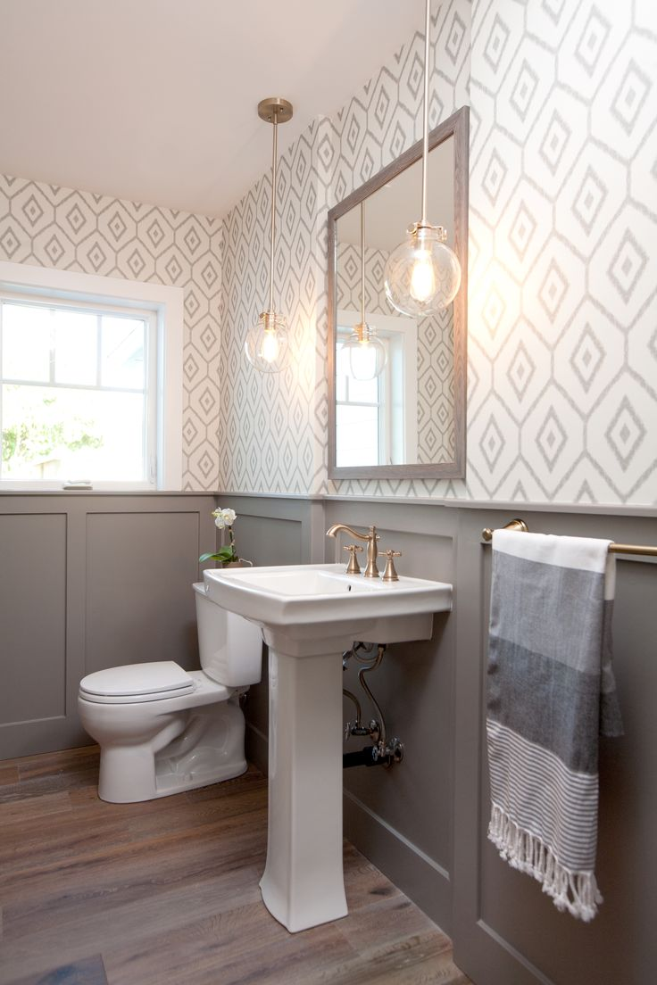 Pattern bathroom wallpaper10