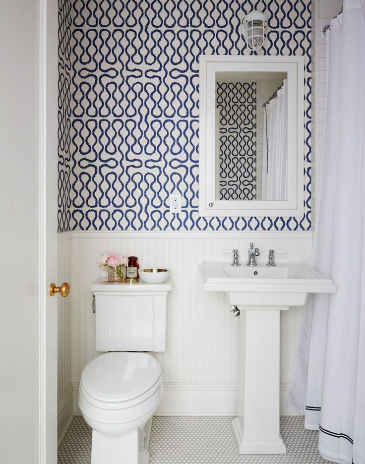 Pattern bathroom wallpaper6