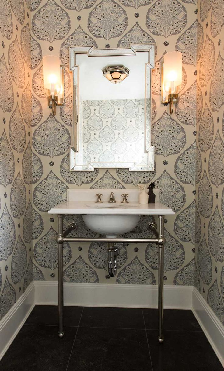 Pattern bathroom wallpaper8