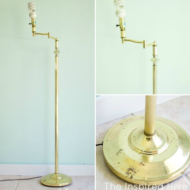 DIY Patina 80s Brass Lamp Makeover